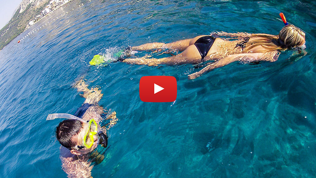 swimming-in-clar-sea-video